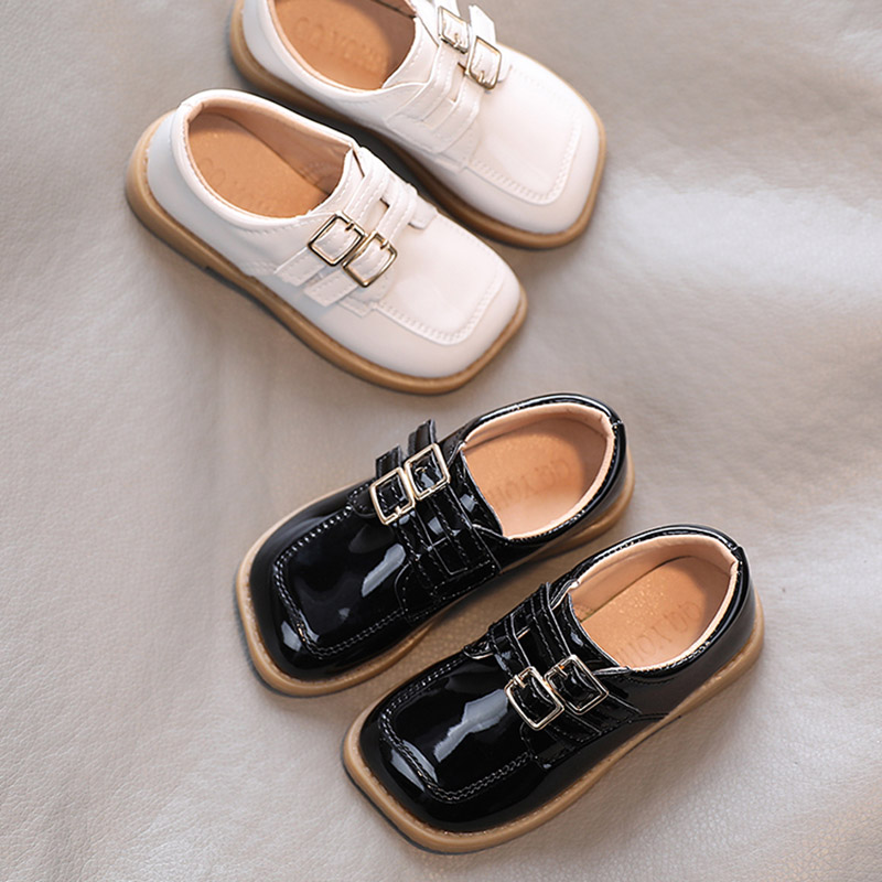 Girls' Double-Buckle Soft Shoes