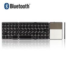 Bluetooth Fold-Able Mini Folding Gaming Keyboard Wireless Keypad Touch-