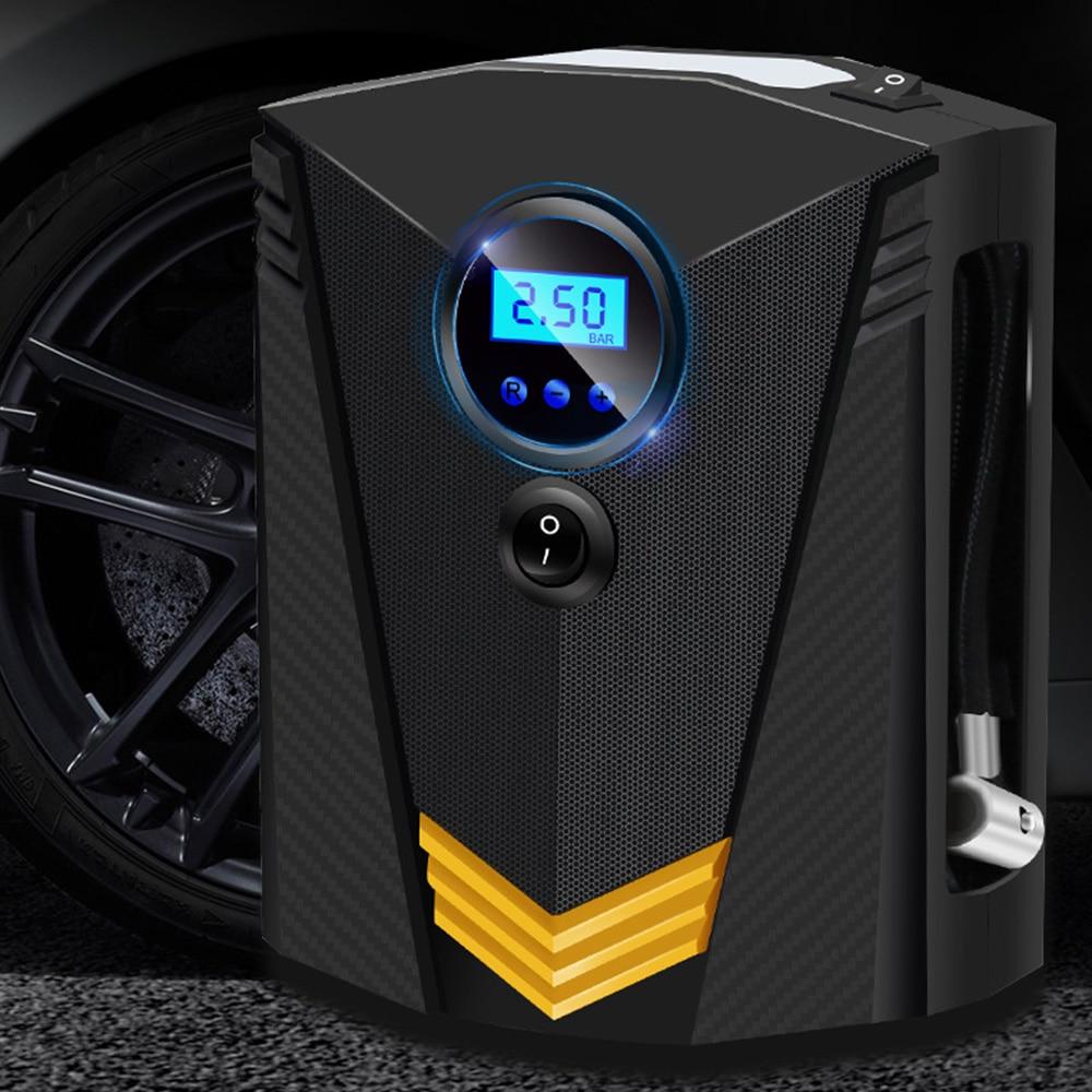 Автомобильный воздушный насос, автомобильный воздушный насос, цифровой дисплей, 12 В, портативный воздушный насос для шин, интеллектуальный ремонт шин, 19 цилиндрическая указка