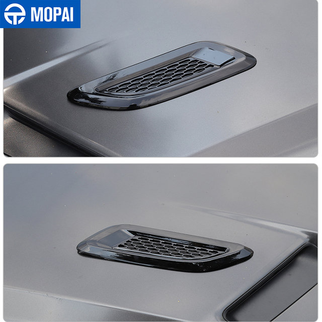 MOPAI Car Front Hood Air Vent Cover Decor Stickers Exterior Accessories for Dodge Challenger for Dodge Charger for Dodge RAM 3