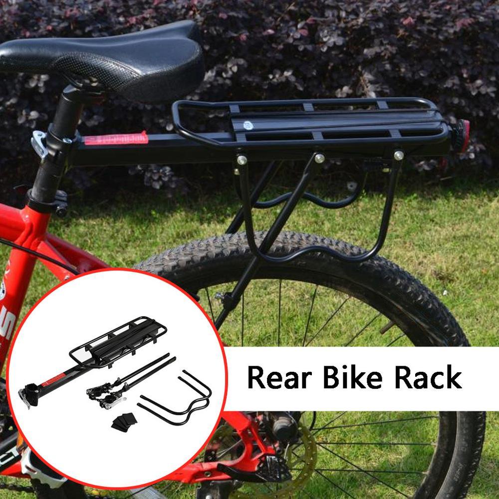 bicycle rear rack shelf mtb road bike seatpost quick release aluminum carrier sporting goods carrier pannier racks romeinformation it