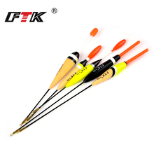 FTK 5Pcs/Lot Barguzinsky Fir 3g6g Mix Weight Fishing Float Length 16cm-23cm For Carp