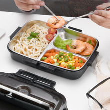 Hot Portable Lunch Box With Compartment 304 Stainless Steel Bento Box For Kids School Food Container Leak-proof Food Box 1pc new japanese kids lunch box 304 stainless steel bento lunch box with compartment tableware microwave food container box 2020