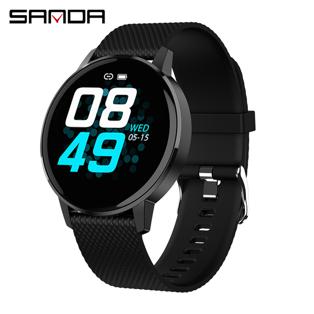 SANDA Men Bluetooth Smart Watch IP68 Waterproof Heart Rate Blood Pressure Fitness Tracker Men Sport Smartwatch For IOS Android