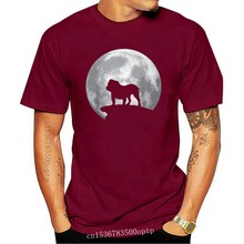 Old English Bulldog And Moon T-Shirt Old English Bulldog Dog Fashion Style Letters Men Crewneck Tees Discount T Shirts