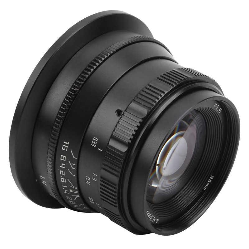 Радиочастотное крепление 35 мм F1.4, широкоугольный ручной объектив с фиксированным фокусом для Canon EOS R/RP/R5/R6, объектив для Sony A72 A73 A7S3 A7R3 A7C A9