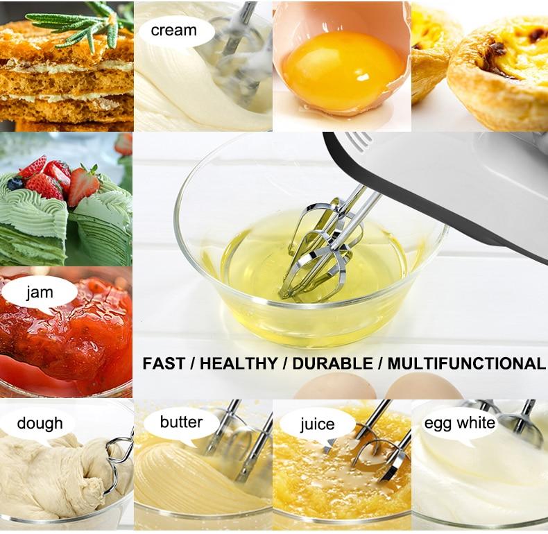 Hc7535227094040e0b5dfe2d2935eabddU 7 Speed Control Hand Mini Mixer Food Blender Multifunctional Food Processor Kitchen Mini Electric Manual Cooking Tools