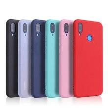 Capa de silicone macio para celulares xiaomi, capinha para modelos xiaomi redmi note 5, 6, 7, 8, 8t pro, 5a, 6a, 7a case colorida fosca 8a redmi s2 go k20