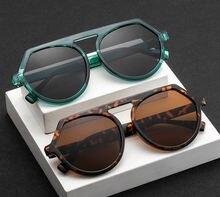 Солнцезащитные очки в большой оправе uv400 модные круглые с
