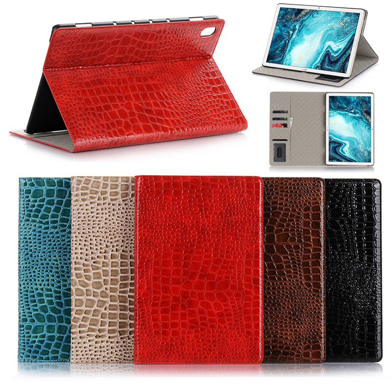 Coque de Protection en cuir pour tablette, pour IPad 2019 10 2, 7e, 2018 Pro 12.9 9.7 11 Mini 5, Protection en cuir pour support à motif Crocodile