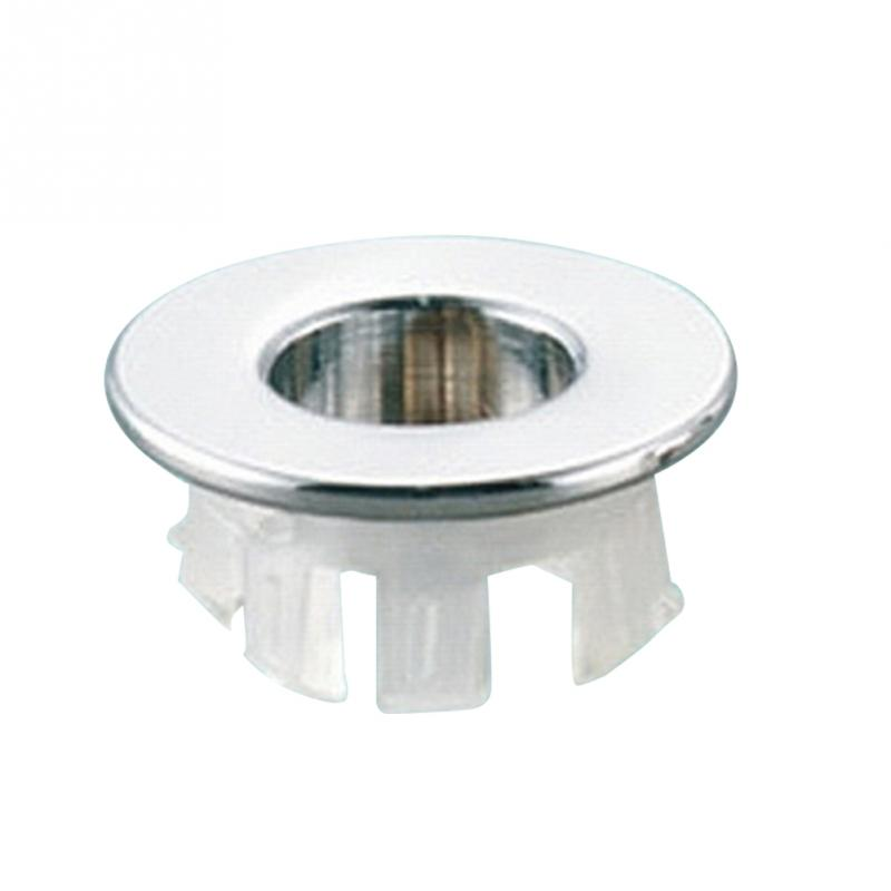Bathroom Basin Sink Overflow Ring 20mm Round Insert Chrome Hole Cover Cap Basin faucet Sink Replacement Accessories
