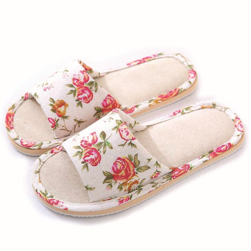 Spring Autumn Women Home Slippers Indoor Floor Soft Couple Linen Slipper Lightweight Unisex Bedroom Shoes Ladies Flax Flip Flops