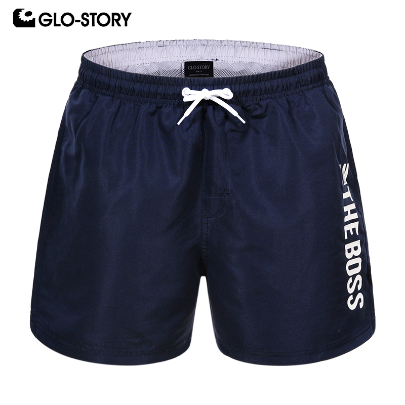 GLO-STORY 2020 New Summer Board Short Men Sporting Beach Shorts Casual Fashion Short Pants MTK-7770