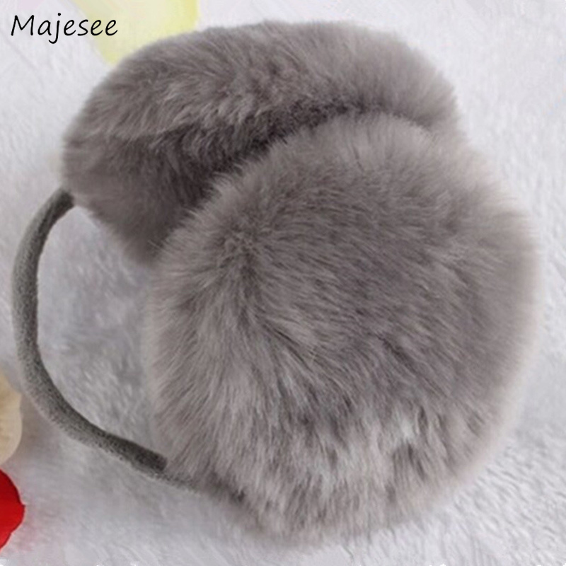 Earmuffs Women Simple Casual Korean Style Solid Soft Comfortable Girls Pink Sweet Womens Ear Warmer Chic Harajuku All-match New