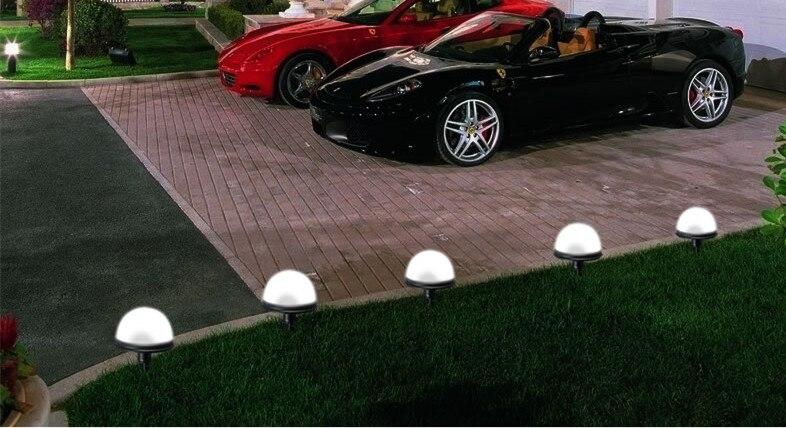 As luzes solares lâmpada do gramado luzes