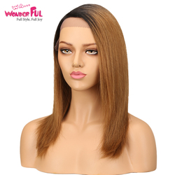 Rechte Seite Teil Ombre Spitze Front Menschliches Haar Perücken Für Schwarze Frauen Peruanische Remy Gerade Haar Perücke 14 Inch Freies verschiffen