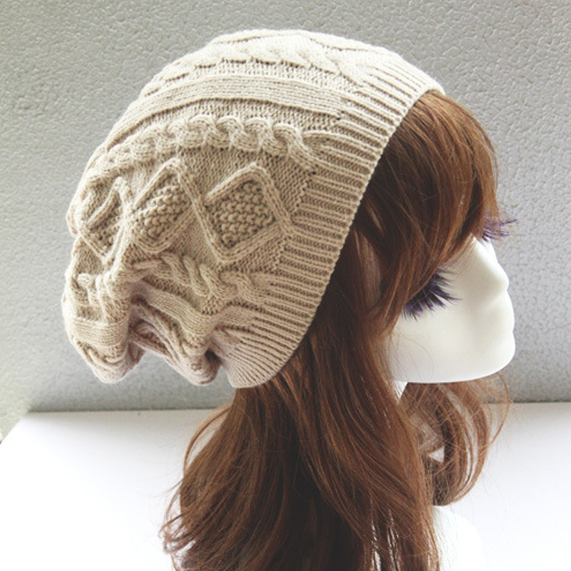 2020 Womens Warm Hats Fashion Twist Pattern Knitted Hat Beanies Winter Gorros For Female Skullies Touca Chapeu Feminino