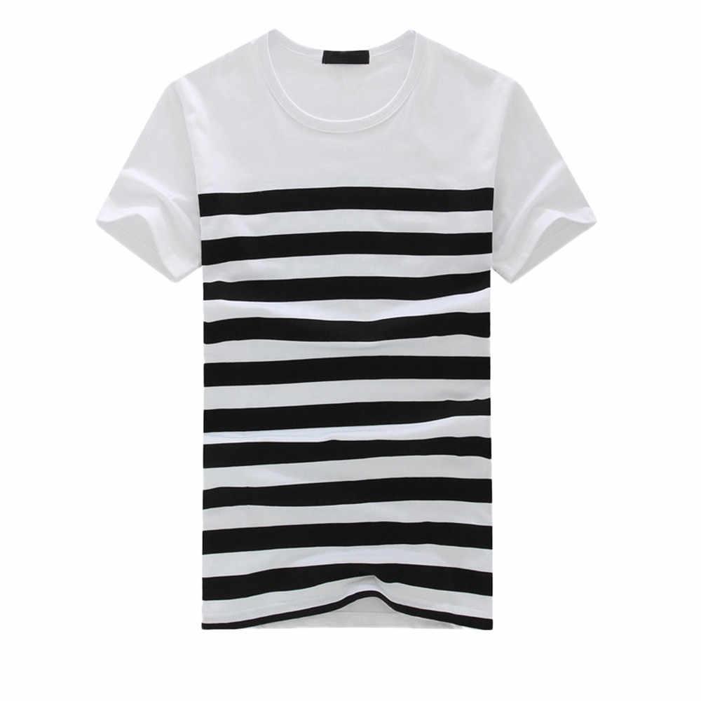 2020 Nieuwe Vrouwen Mannen T-shirt Mode Toevallige Streep Gedrukt Korte Mouw T-shirt Trui Top Tee Mannelijke Kleding Camiseta Masculina