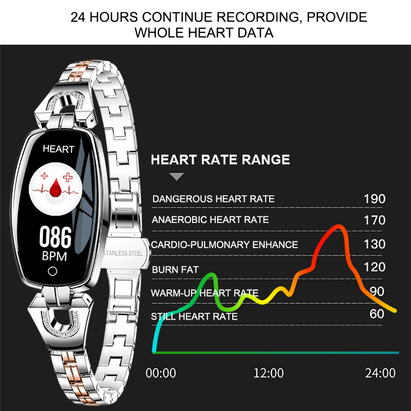 smart watch women bracelet heart rate monitor smart blood pressure ip67 bracelet blood pressure bracelet for smart watch android