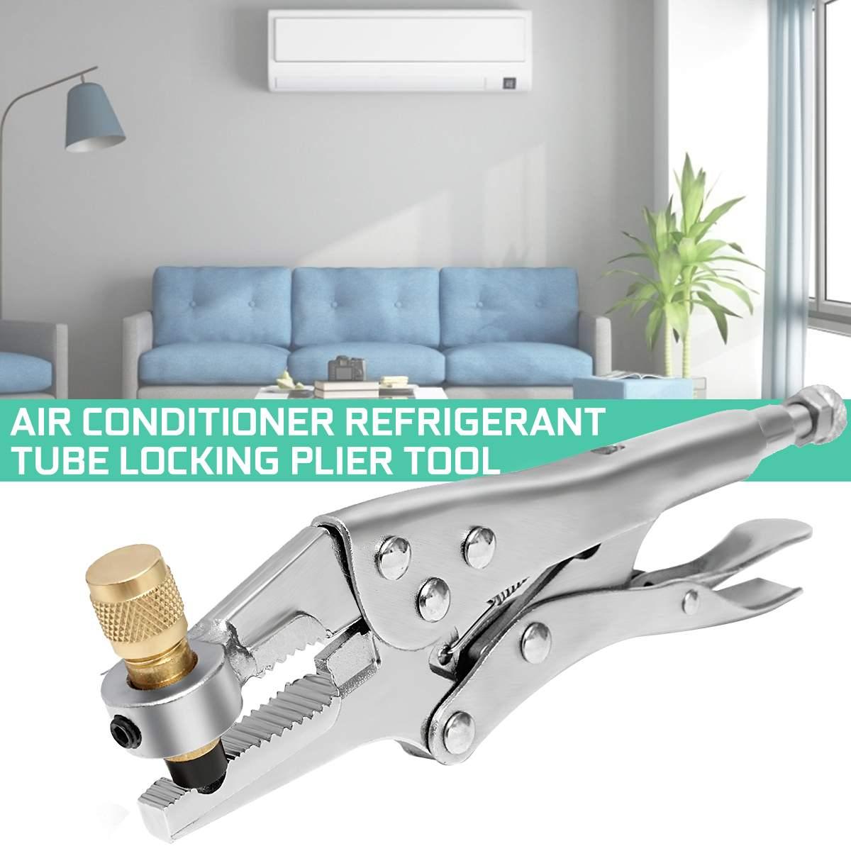 Air Conditioner Refrigerant Recovery Refrigeration Tube Locking Plier Tool