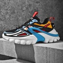 Sapatos masculinos de alta qualidade 2021 verão tênis masculinos moda homem correndo sapatos grossos tênis para masculino sapato casual 45 46 mais tamanho