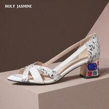 Handmade Ladies High Heel Pumps Classic Party Prom Dress Shoes Slip-on PVC Leath
