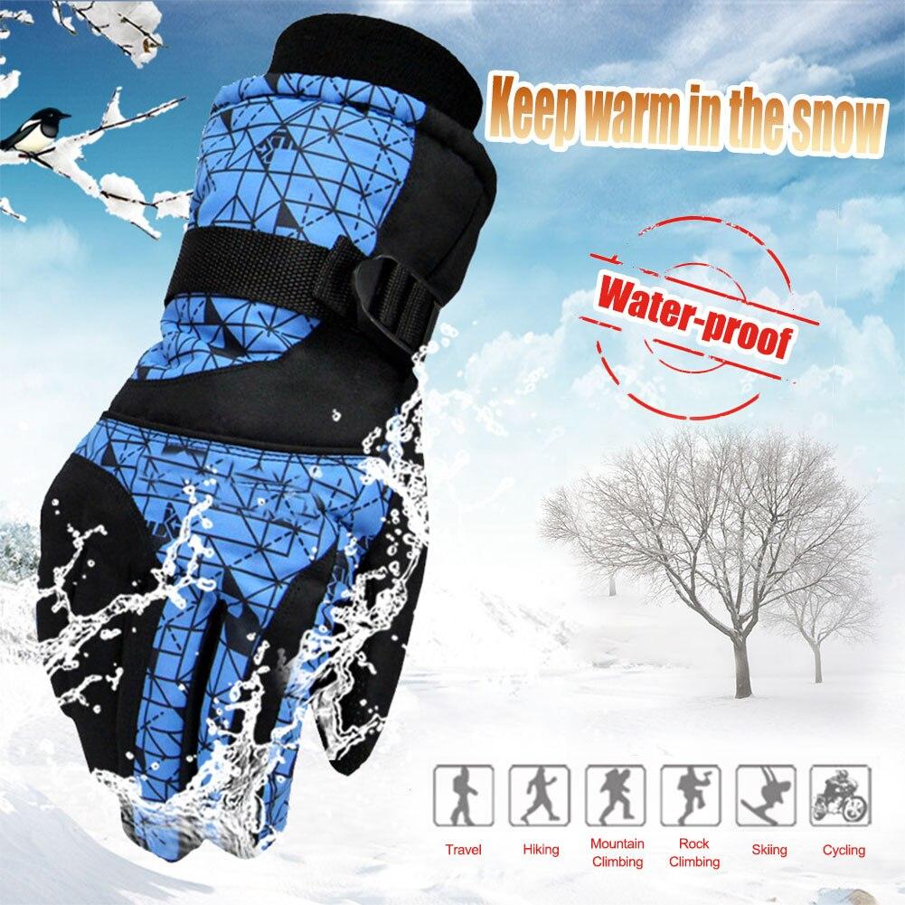 Men Women Ski Gloves Snowboard Gloves Ultralight Waterproof Winter Snow Warm Fleece Motorcycle Snowmobile Riding Gloves