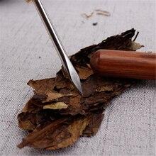 Нож из сандалового дерева чайная нож Pu Er, Специальная игла для чая, многофункциональные китайские чайные наборы кунг-фу, спиральный чайный нож, посуда