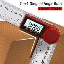200/300mm Digital Instrument Angle Inclinometer Angle Digital Ruler Electron Goniometer Protractor Angle Finder Measuring Tool