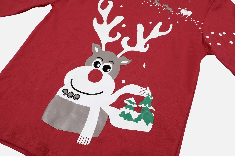 Charmleaks/Детский Рождественский пижамный комплект; Новинка; Рождественская одежда для сна; детская одежда для сна; комплект домашней одежды; зимняя одежда