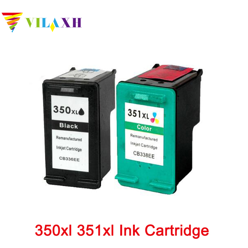 Vilaxh 350 <font><b>351</b></font> xl Ink Cartridge compatible For <font><b>HP</b></font> Photosmart C4480 C4280 C4580 C5280 Officejet J5780 J5730 J5780 J5785 J5790 image