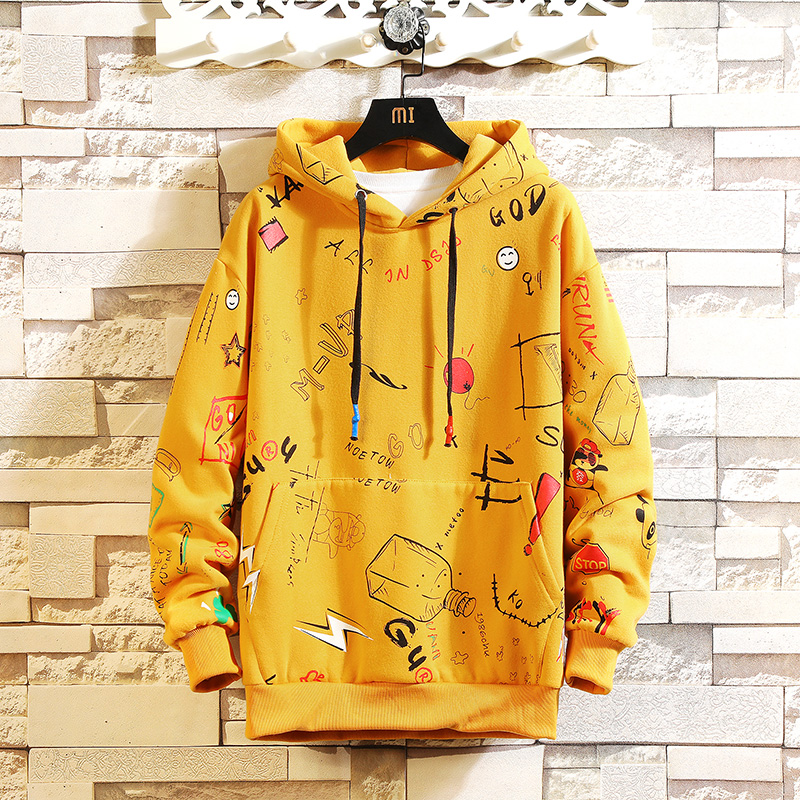 2020 AUTUMN Spring Fashion High Quality Men Hip Hop Punk Streetwear Long Sleeve Pullover Hoodies Sweatshirt Clothes