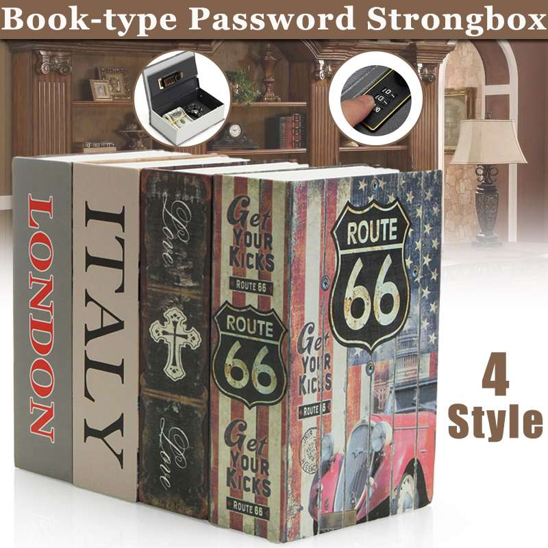 Safe Lock Cash Money Coin Storage Jewelry Key Locker Kid Gift Security Mini Dictionary Safe Box Book Money Hide Secret Security
