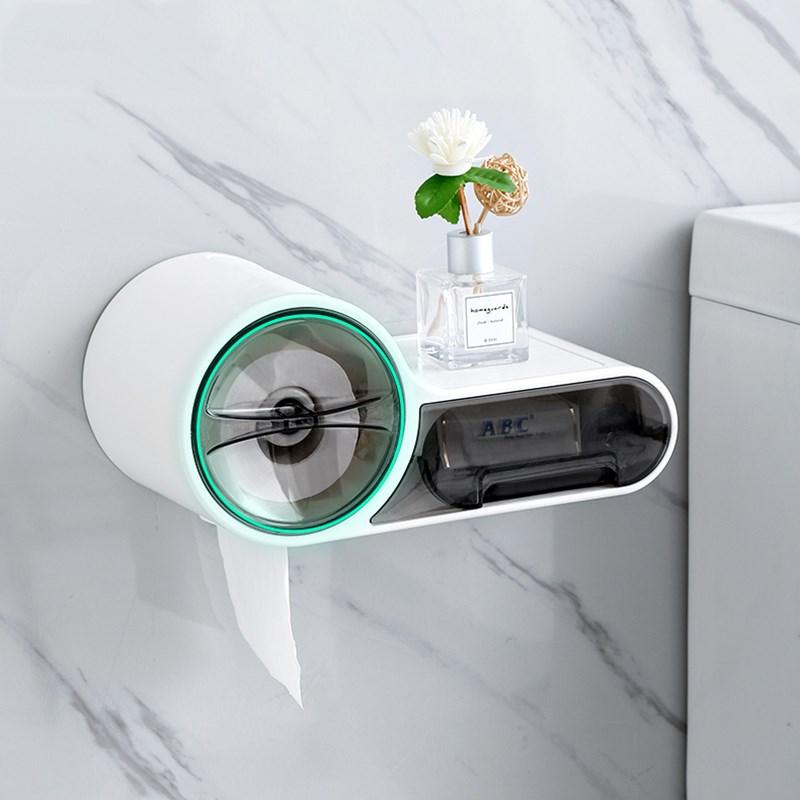 ONEUP Waterproof Toilet Dispenser Toilet Paper Holder Bathroom Paper Tissue Box Wall Roll Paper Storage Box Bathroom Accessories