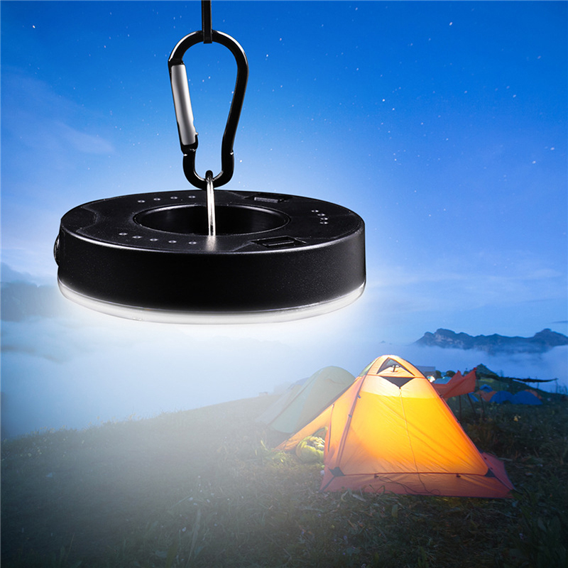 LED Bulb Battery Powered Tent Light Camping Lights Hook Flashlight Tent Light Bulb Hanging Lamp Portable Lantern With Hooks