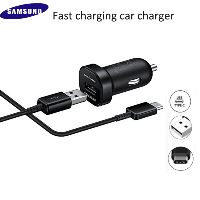 For s8 <font><b>Samsung</b></font> Car <font><b>Charger</b></font> USB Adaptive Fast Adapter 120/150CM type C date cable for galaxy A70 A50 s10 S9 plus s10e note 10 9 8 image