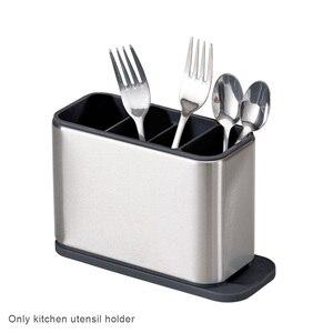 Multifunction Multi Slot Flatware Cutlery Drainer Home Stainless Steel Countertop Organizer Sinkware Kitchen Utensil Holder