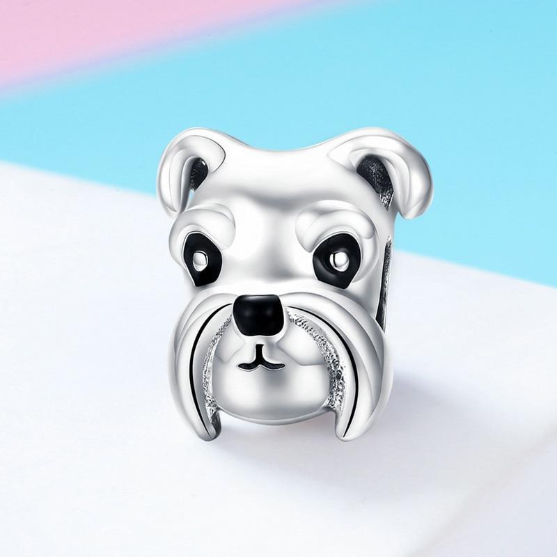 Bulldog encanto de plata-Colgante.925 Bull Dog Perros encantos sssc264b