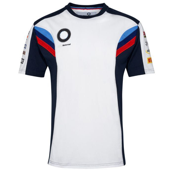 NEW 2020 White Motorrad Motorsport Motorcycle <font><b>T</b></font>-<font><b>shirt</b></font> Cycling Outdoor Polyester Quick-Drying <font><b>T</b></font>-<font><b>shirt</b></font> Jersey for <font><b>BMW</b></font> Motocross image