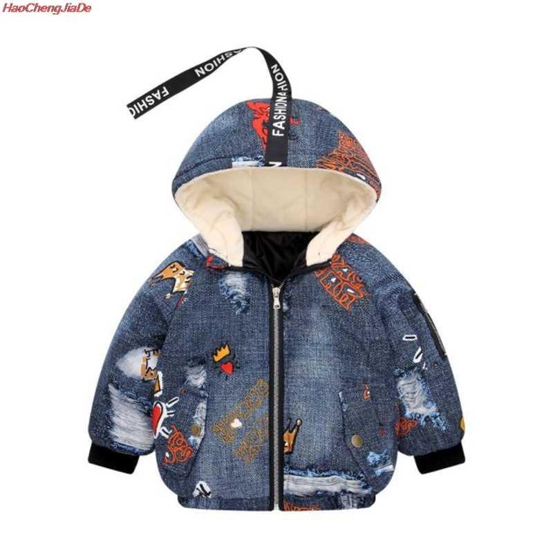 CJean Down chaqueta niños chaquetas invierno otoño moda niñas invierno abrigos niños ropa de abrigo niños/niñas chaquetas