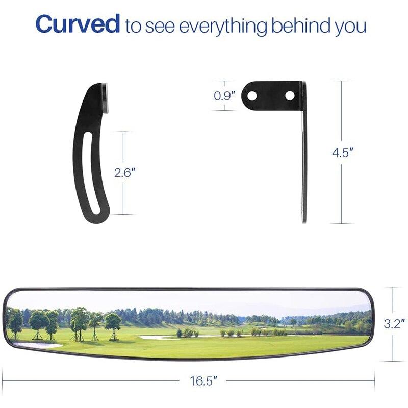 16.5 Polegada universal ampla vista traseira convexo