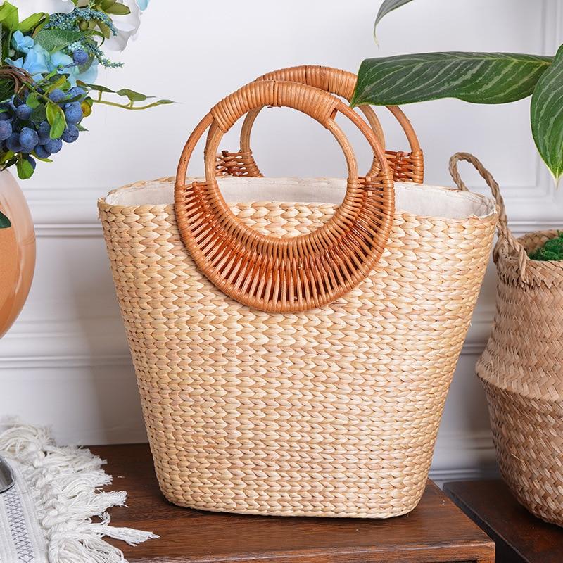 Lovevook Woven Straw Bag Women Summer Beach Bags For Travel Handmde Rattan Bags For Ladies Luxury Handbags Design 2020 Bohemia