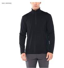 2019 Fall Winter Mens Base Layer 100% Merino Wool Midweight 300g 1/4 Zip Sweater for Men Sweater Soft Thermal Moisture Wicking