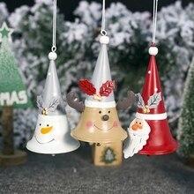 цена на Christmas Santa Claus Pendant Iron Christmas Decoration For Home Christmas Tree Ornaments Xmas Gifts