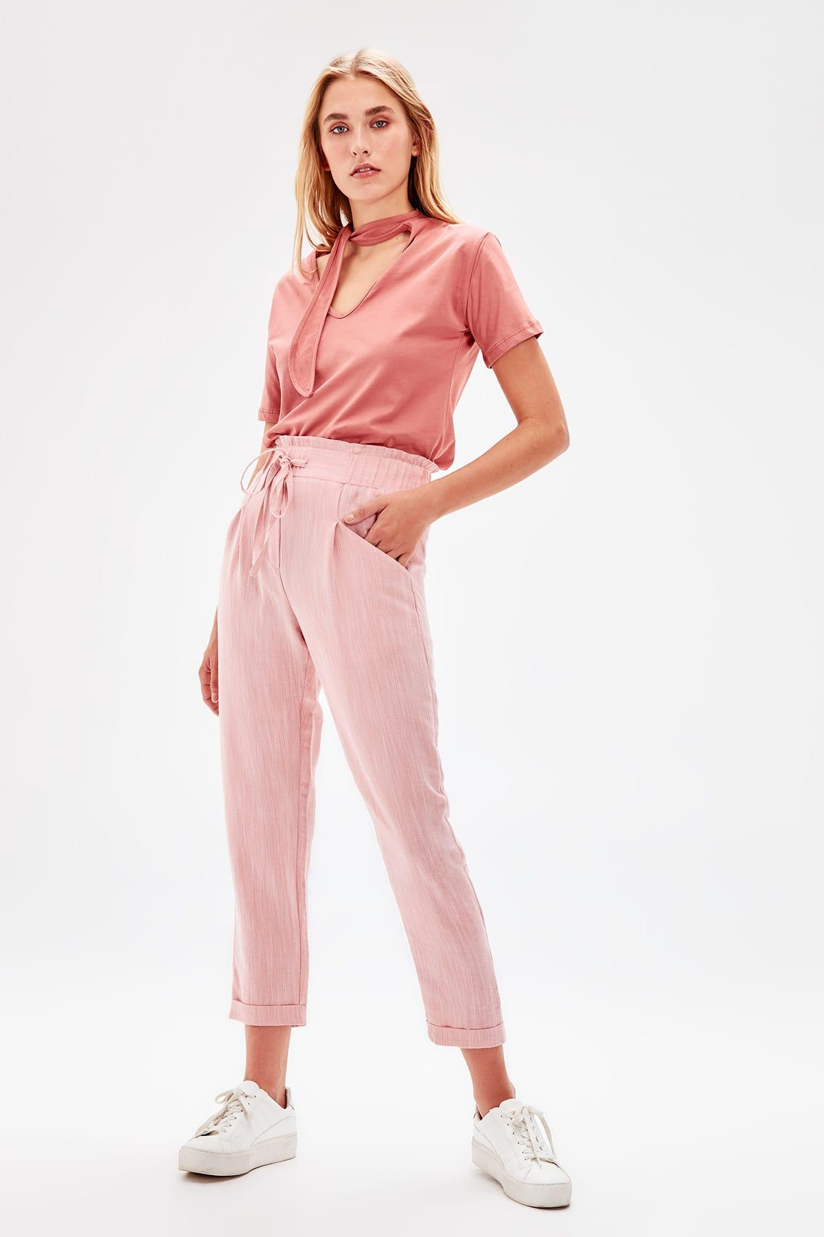 Trendyol Pink Lacing Detaylı Pants TWOSS19PL0097