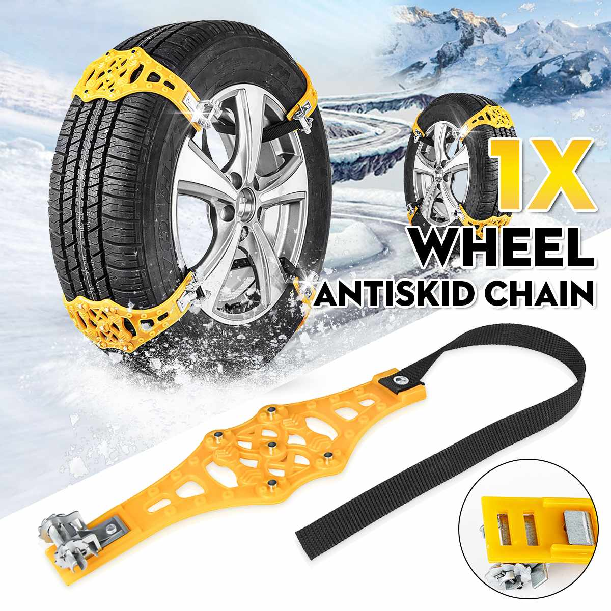 2/6/8X Automobile Tire Snow Chains Car Tyres Anti-skid Chains Wheel Chain Winter Use TPU Universial For 165-265mm
