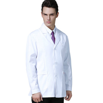 Male doctors wear separate suits, lab coats, long sleeves and short styles for winter medical dentists
