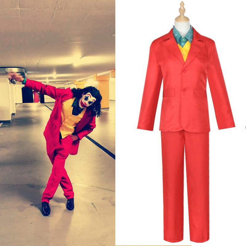 2019 Movie Joker Origin Joaquin Phoenix Costume Cosplay Costumes Halloween For Women Man Arthur Fleck Joker Suit