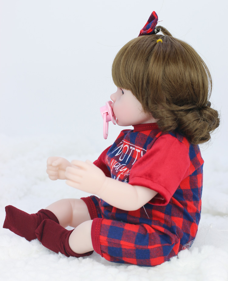 42cm Baby Bebe Doll Reborn Simulation Baby Dolls Soft Silicone Reborn Toddler Baby Toys