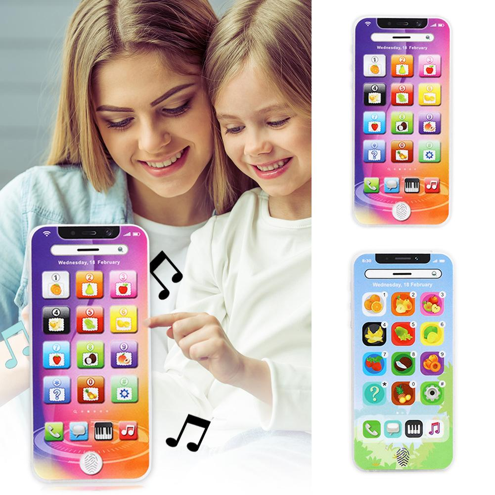 Colorful Electronic Toy Kids Mobile Phone Educational Multi-function Keyboard Sensitivity Simulated English Learning Music Toys